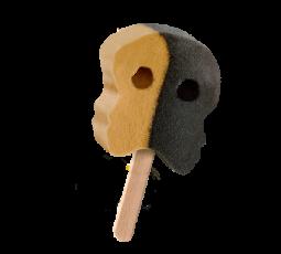Bubs skalle karamellu- og lakkrísíspinni